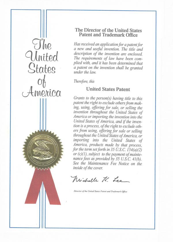 특허증(미국_레이더 신호처리방법)