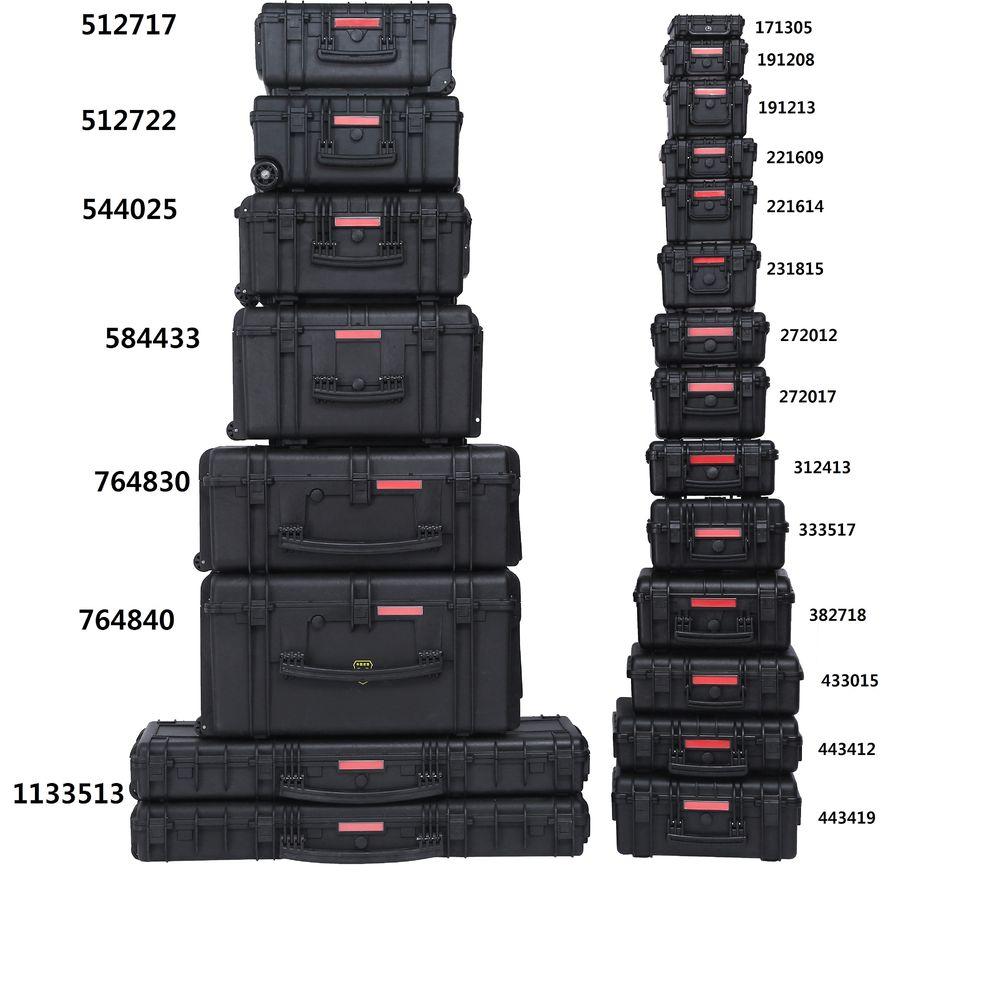 다양한 사이즈 보유중이며 제품 사이즈는 모델명으로도 확인이 가능합니다. ex) 764830은 가로 76 세로 48 높이 30 인 사이즈의 케이스 입니다.