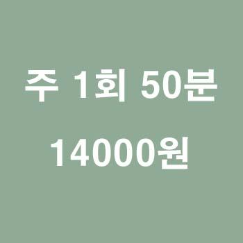 50분 수업/1회 14000원/주2회부터 1회당 13000원