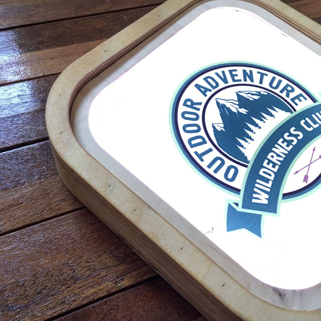 자작나무 포인트 간판