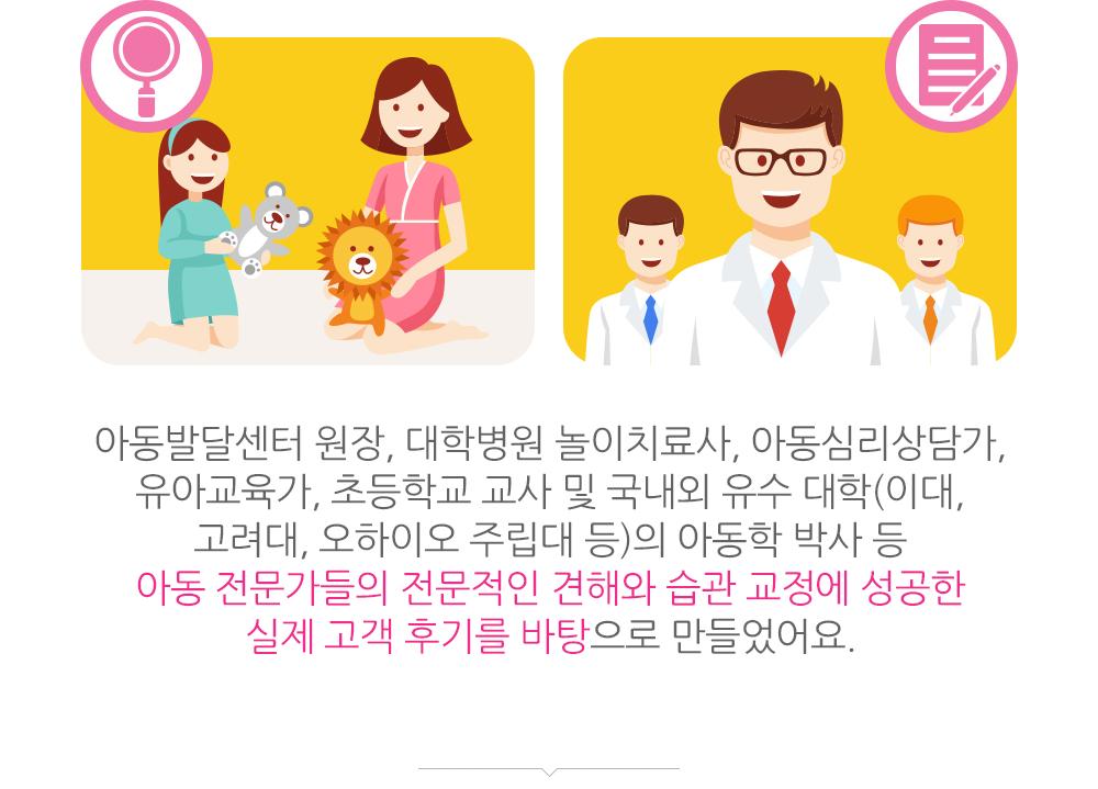 아동 전문가들의 전문적인 견해를 바탕으로 만든 교정 가이드