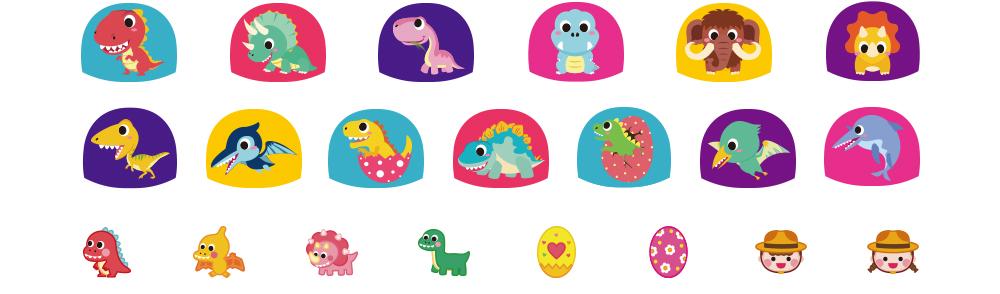 공룡탐험대 풀커버와 포인트 자세한 디자인