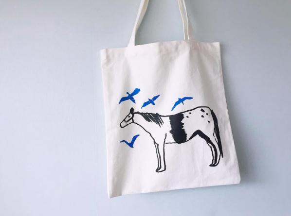 silkscreen eco bag (37×41cm), '푸른꿈' 소량제작