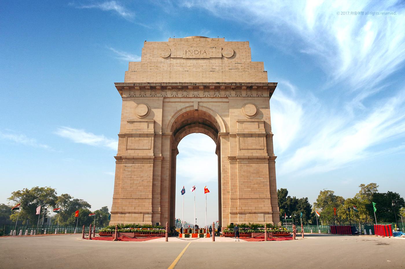 제 1차 세계대전에서 전사한 인도 병사를 추모하기 위해 만들어진 인도문