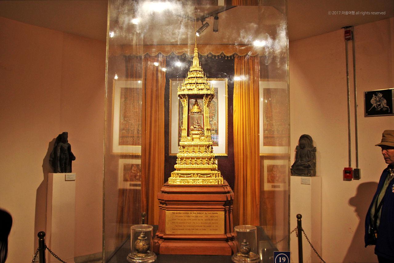 국립박물관에 전시된 부처님 진신사리