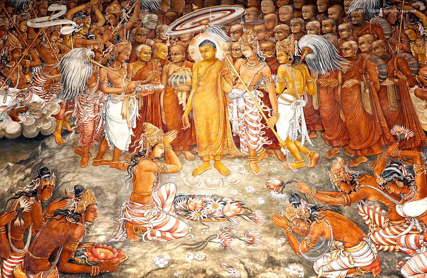 켈라니아 사원 내부 벽화