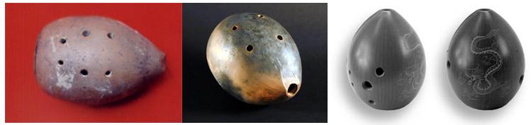 중국에서 발굴된 고대 훈과 개량된 훈