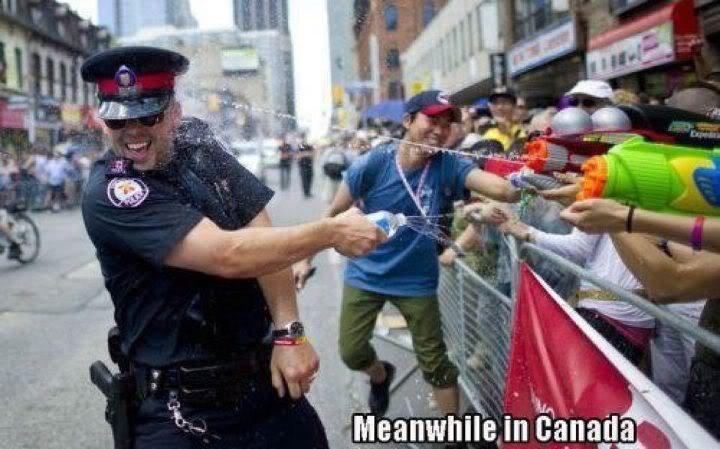 즐거운 물총 시위