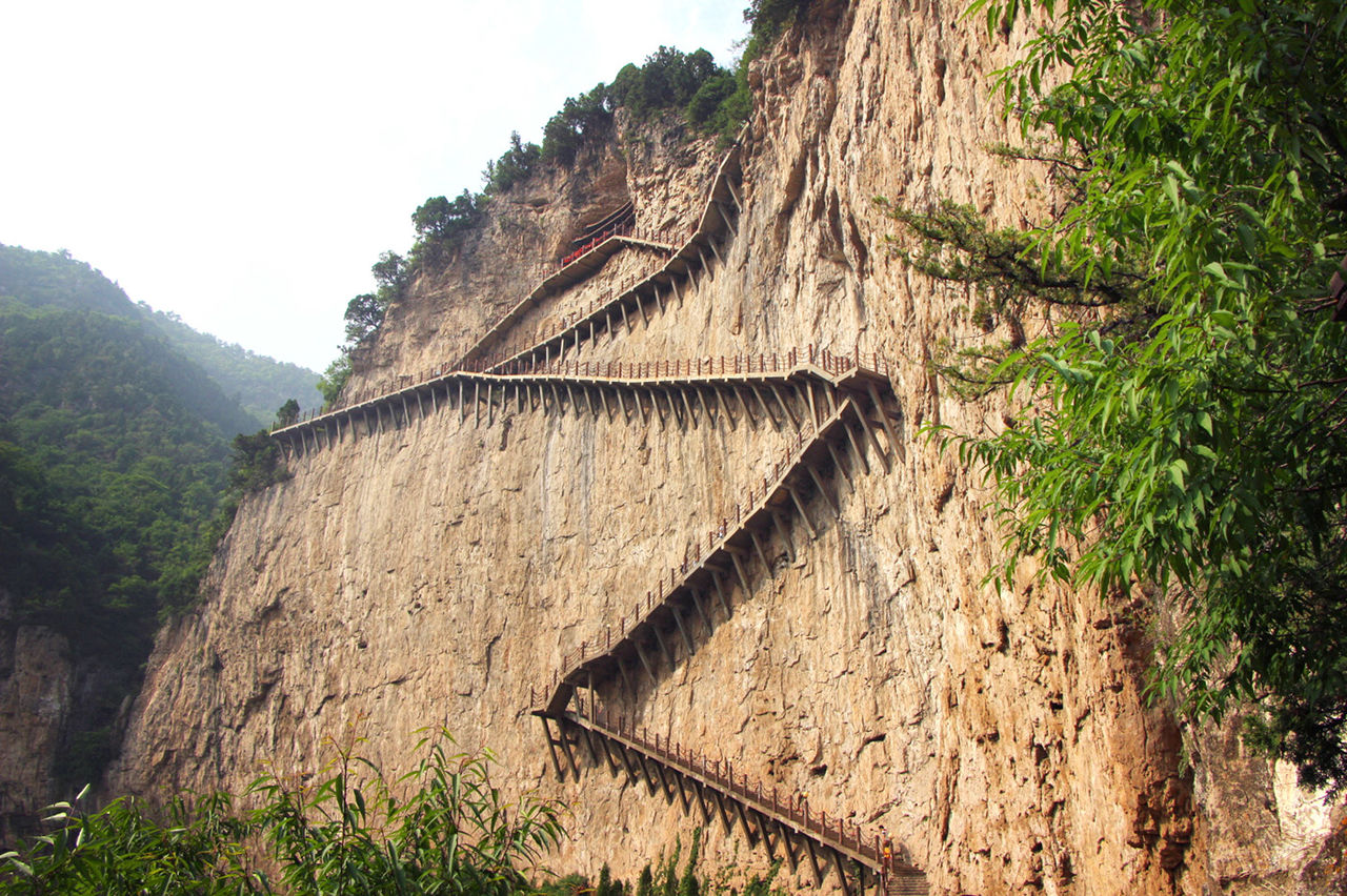 중국 면산 정과사 계단로
