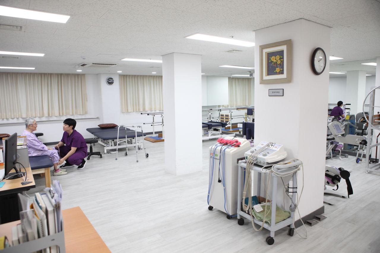 재활치료실 내부
