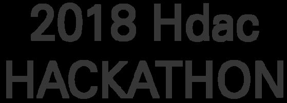 2018 Hdac HACKATHON