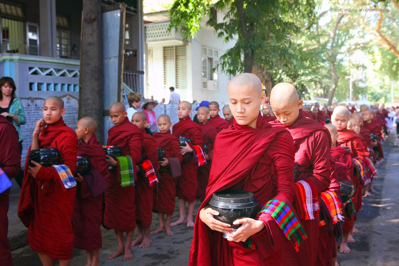 미얀마 최대의 강원 - 마하간다용 수도원