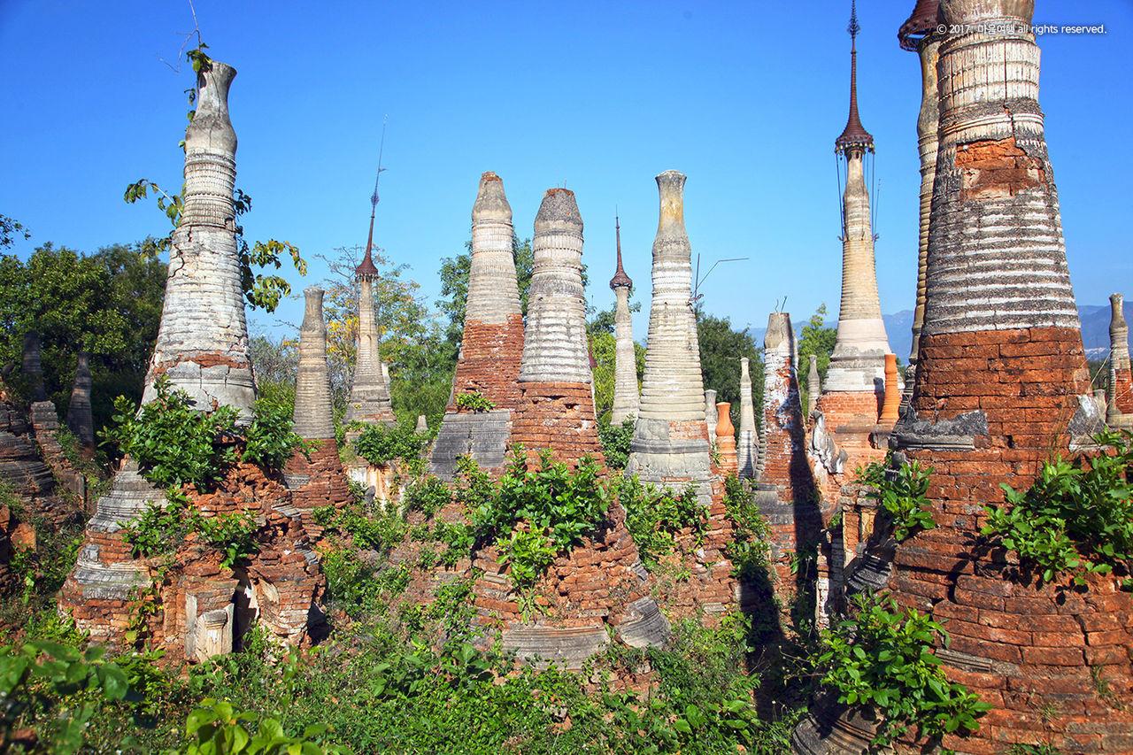 천여개의 소탑 군락지인 - 인뗑 유적지