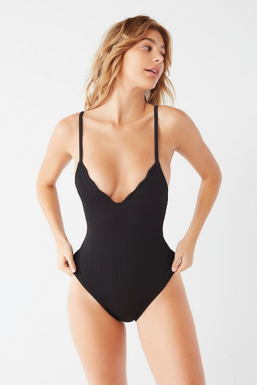 2883d145f049c Out From Under Emma Ribbed Tied Up One-Piece Swimsuit