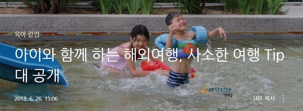 아이와 함께 하는 해외여행,사소한 여행tip </br> by행복덩이아빠(네이버 블로그)