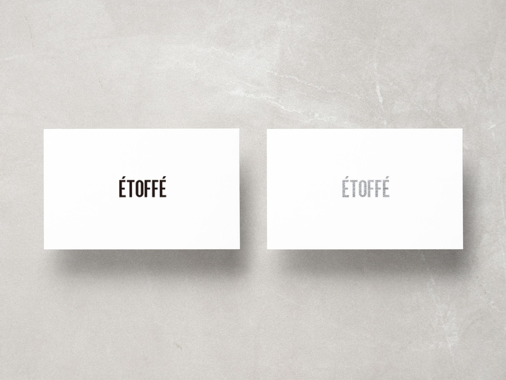 ÉTOFFÉ / Identity Design
