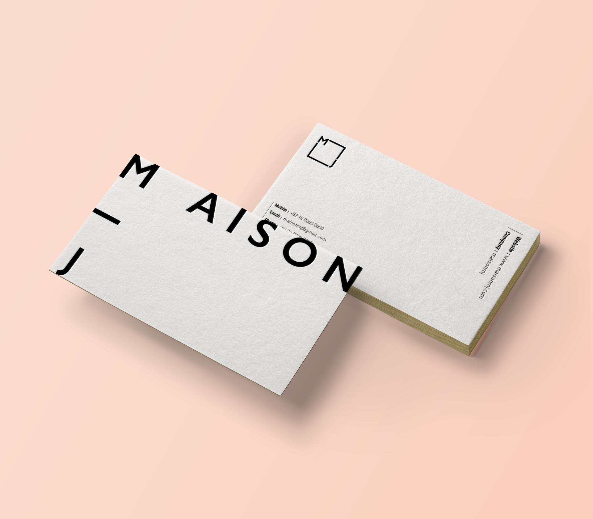 MAISON MJ / Identity Design