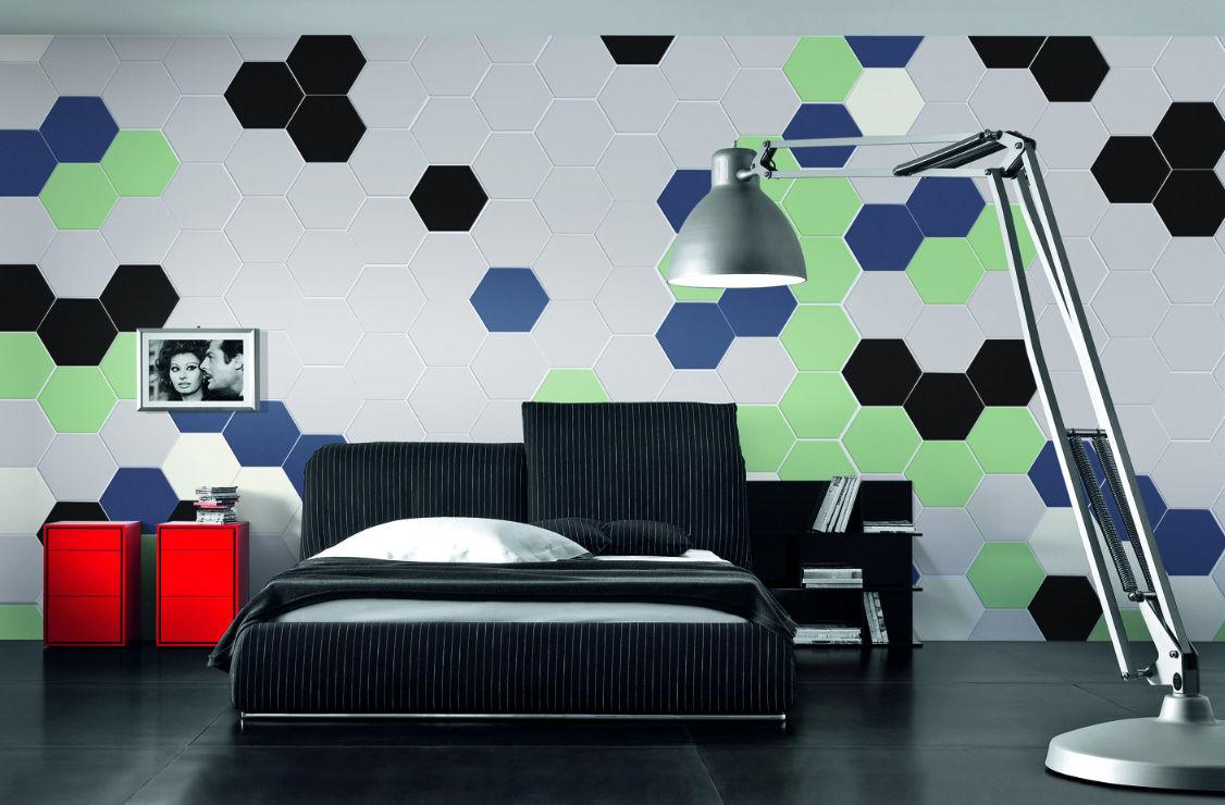 HEX-S.WHITE , HEX-S.GREEN , HEX-S.BLUE / 17x14.7cm / MATT