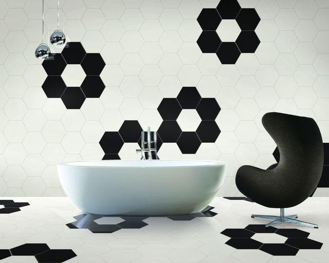 HEX-S.WHITE , HEX-S.BLACK / 17x14.7cm / MATT