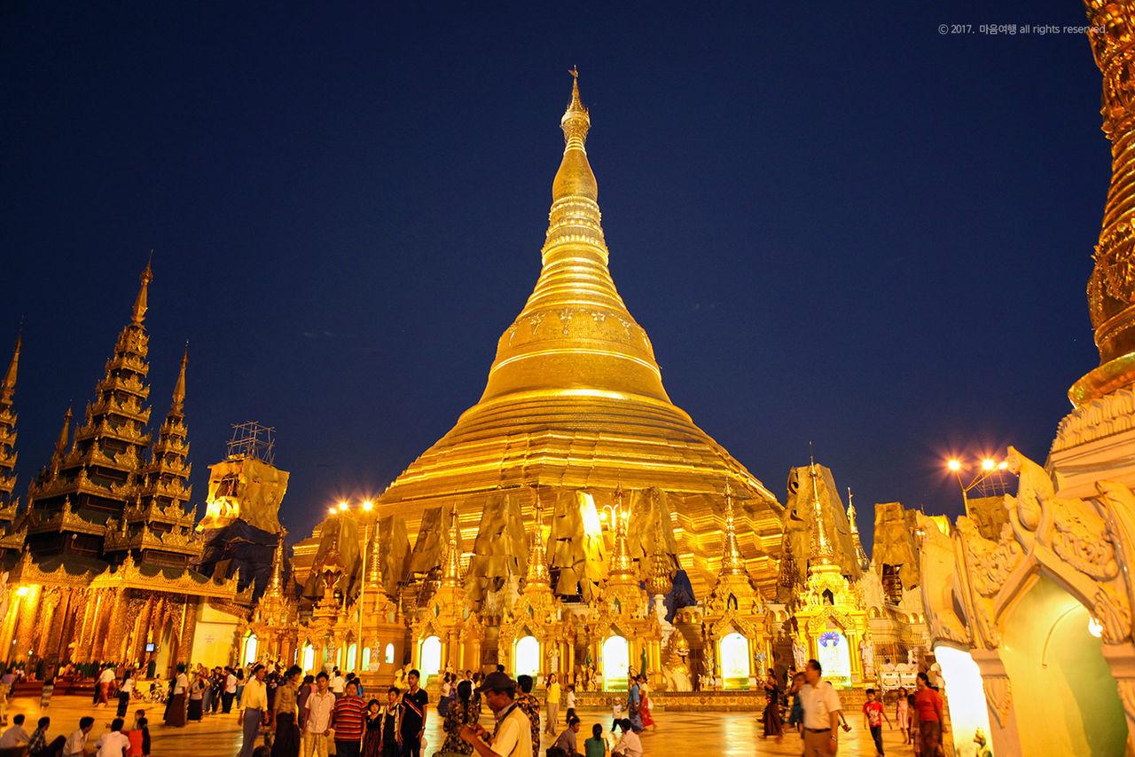 미얀마 역사와 문화의 상징인 99M 황금대탑 - 쉐다곤 파고다