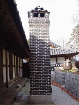 [사진3-35] 안채 굴뚝 (배면)