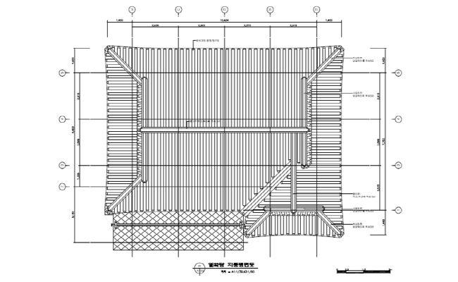 [그림4-12] 열화당 지붕 평면도