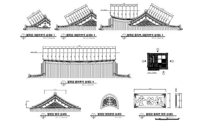 [그림4-13] 열화당 지붕마루 및 기와도