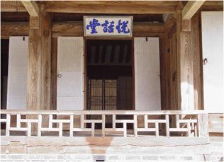 열화당 기둥(전면중앙)