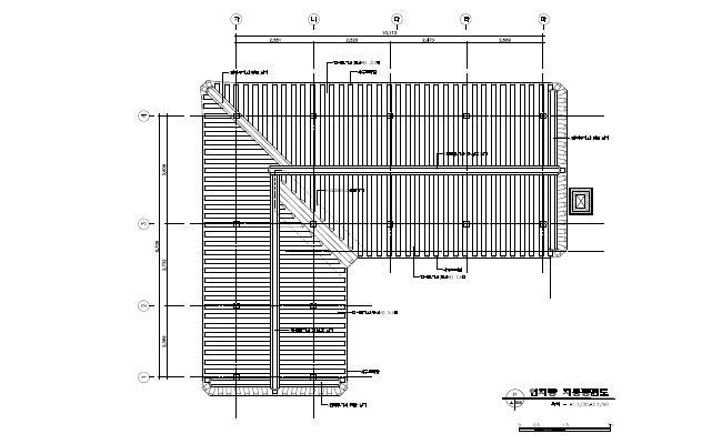 [그림6-14] 연지당 지붕 평면도
