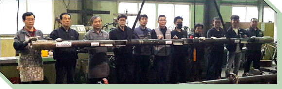 First successful hard chromium plating of on-land construction drill pipes fabricated in house with an inner circumference of 6 m using the Soo-Yeol PPS method