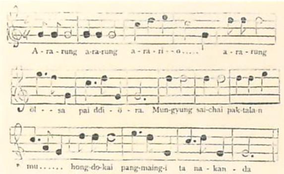 문경새재아리랑-헐버트채보(1896년)