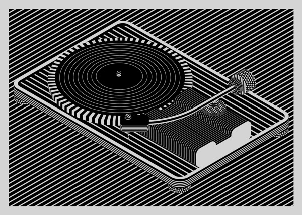 스티븐 윌슨 Turntable 50X70cm screen print 2018