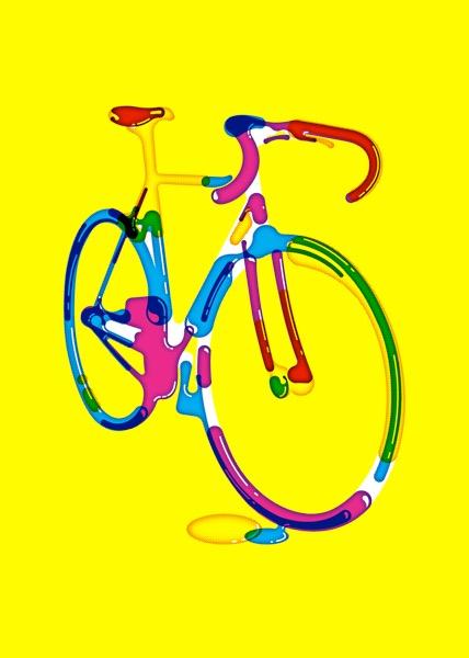 스티븐 윌슨 Bike 70X50cm indigo print 2018