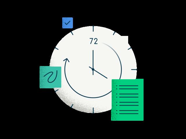 "<p style=""text-align:center;font-weight: 800;padding-top: 16px;"">주문부터 제작까지 72시간 </p><p style=""text-align:justify;"">주문 후 72시간 만에 당신의 로고를 만나보세요! 브랜드 전문가는 서베이를 꼼꼼히 분석하고, 디자이너는 의미가 담긴 로고를 제작합니다. </p>"