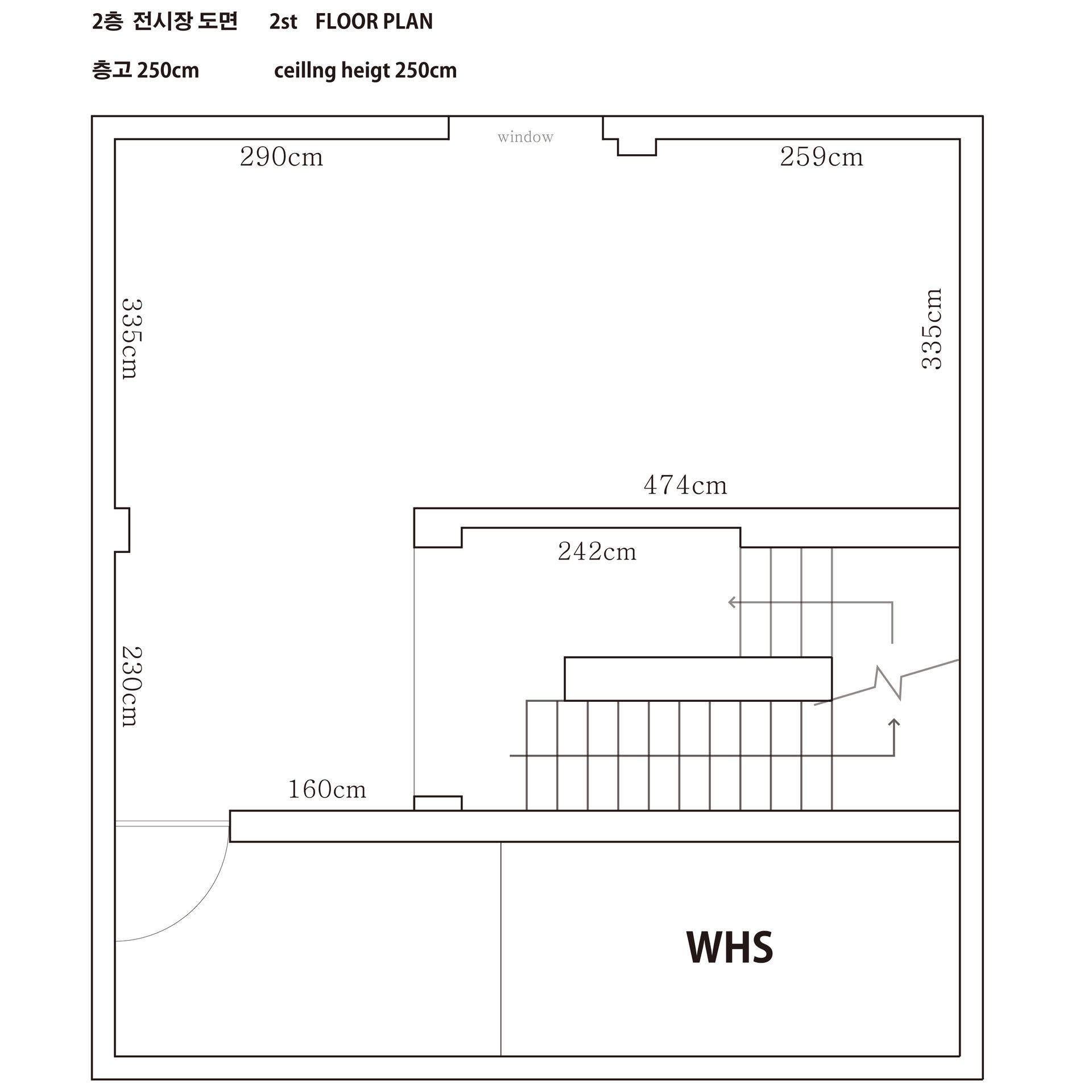 2층 도면 , 2st Floor plan