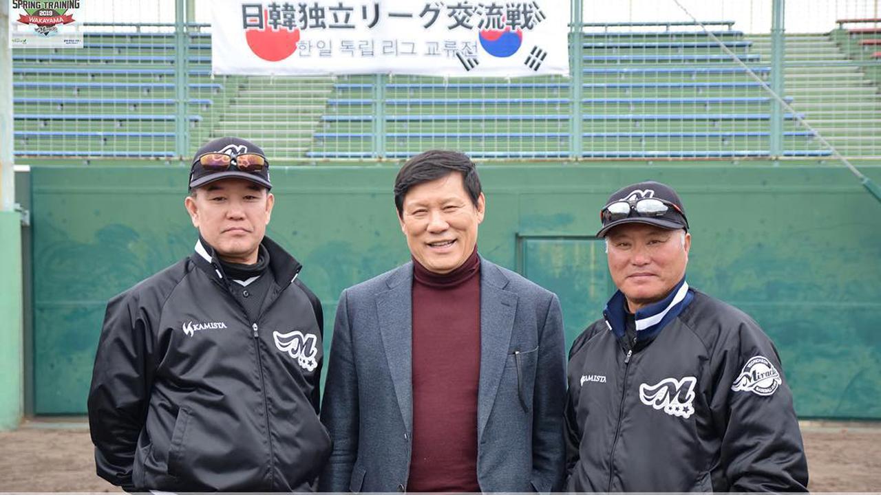 ▶허구연 KBO 총재고문, 연천 미라클 캠프 방문