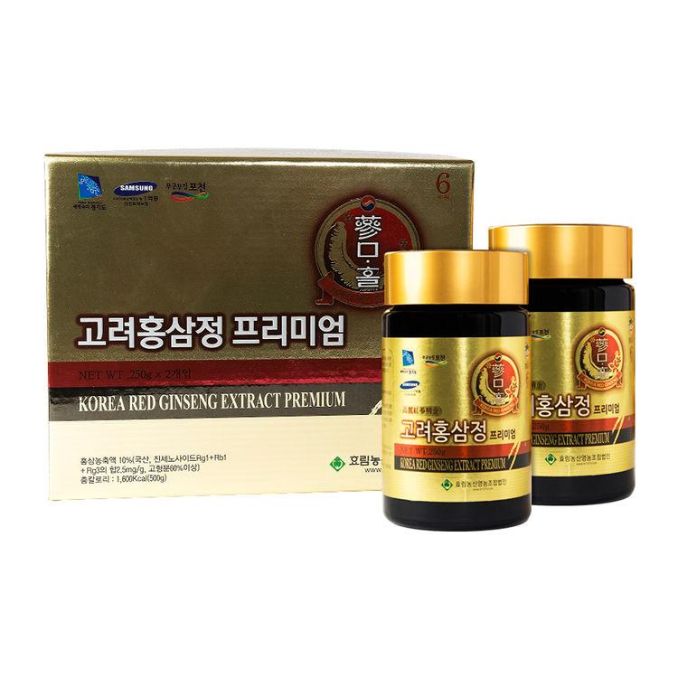 Sammahol Korean Red Ginseng Extract Premium Set (250g x 2ea) Super Health  Food : GSAKMALL