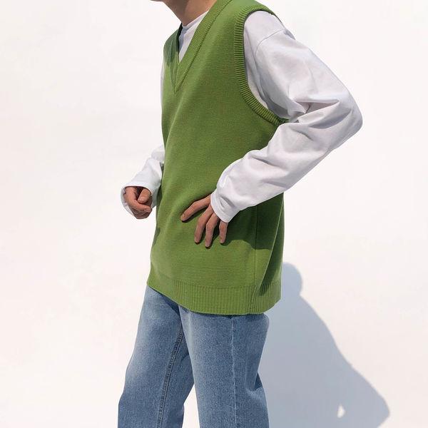 [STYLE LAB] V-neck knit vest (6color)