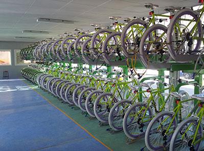 2단 자전거 보관대