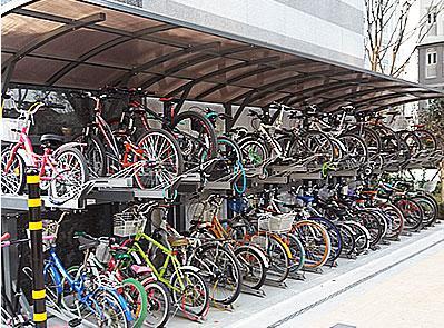 2단 자전거 보관대(차양막)