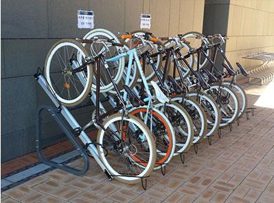 1단 경사형 자전거 보관대