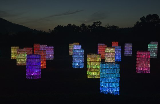 야광 그네와 시소, 대형 유등 <b>LED 어린이 놀이동산</b> <br>[시간]  6월 7일/8일 18:00 ~ 23:00<br>[장소]  은하수 동산 (주전소 뒷마당)