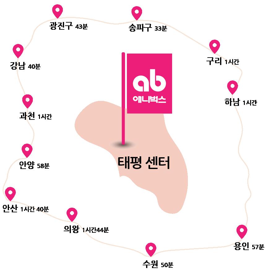 애니벅스 만화애니전문학원 성남 태평 센터 지도
