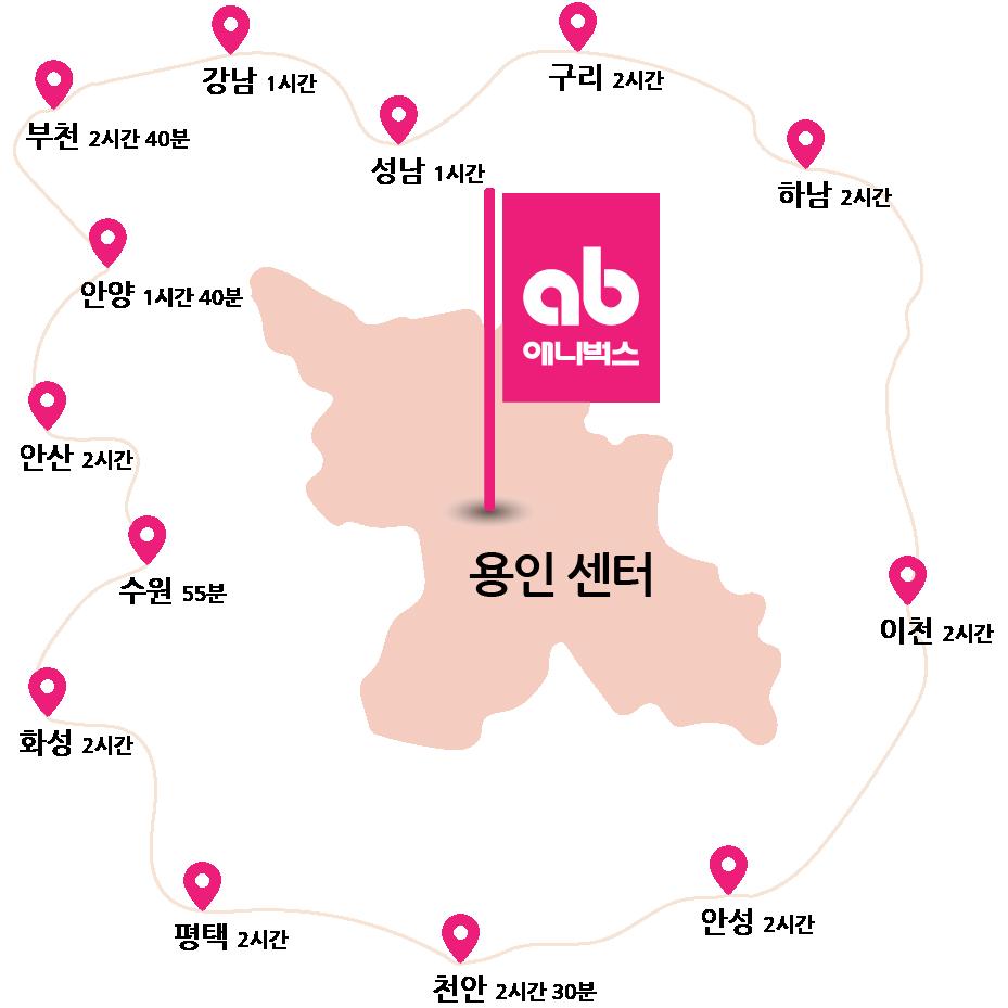 애니벅스 만화애니전문학원 용인 명지대앞 센터 지도