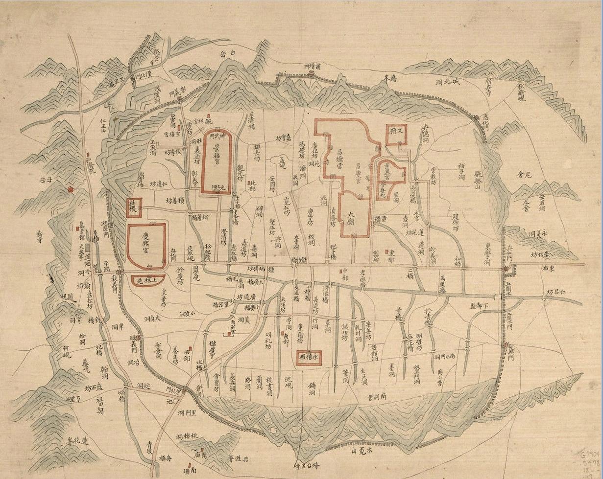 한양의 옛 지도