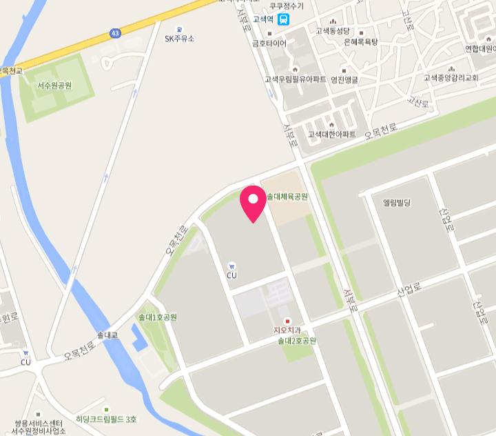 국철 1호선 수원역에서 마을버스(6-1, 6-3, 31번 버스)이용 <br>[수원산업단지] 정류장 하차