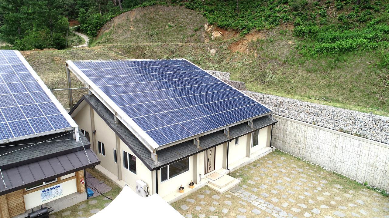 태양열에너지를 이용하는 햇살채움관