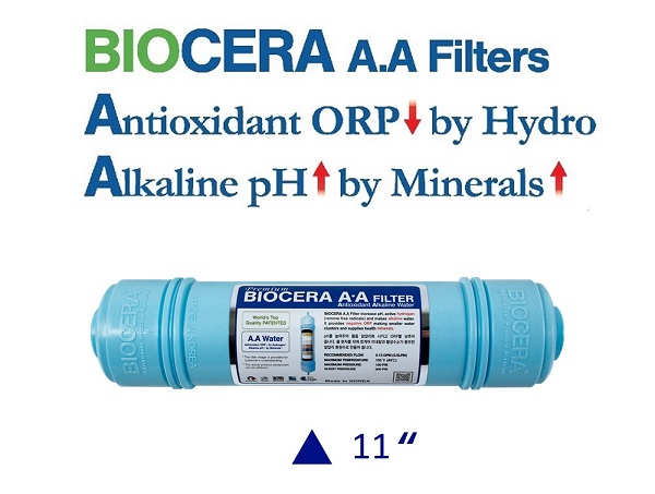 Biocera Antioxidant Alkaline Female 8 inch water filter