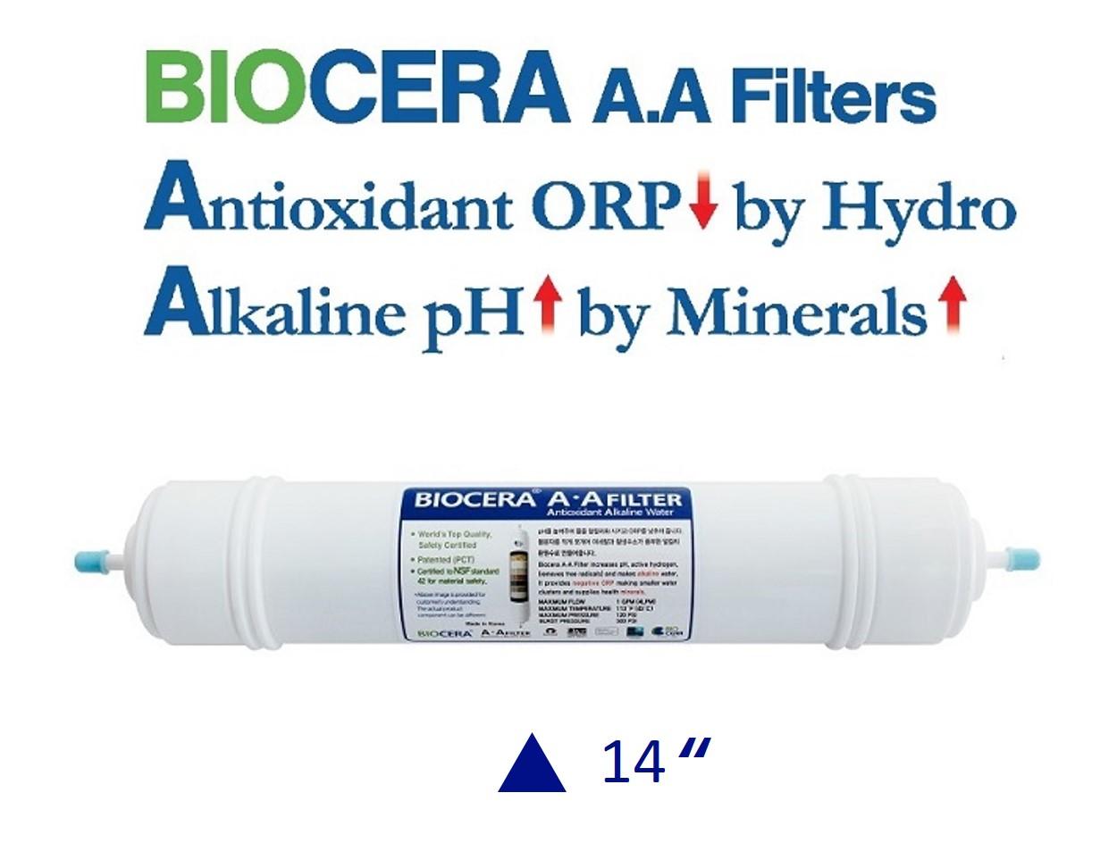 Biocera Antioxidant Alkaline 14 inch water filter