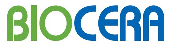 Biocera logo and wordmark